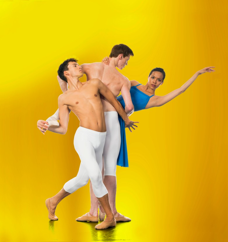 New English Ballet Theatre (photograph of dancers Diogo Barbosa, Alexander Nuttall and Alexandra Cameron Martin by Patrick Baldwin)