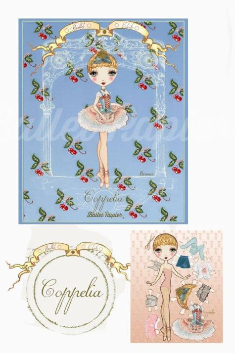Ballet Papier - Ballet Étoiles paper dolls and notebooks - Coppélia