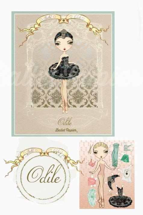 Ballet Papier - Ballet Étoiles paper dolls and notebooks - Odile