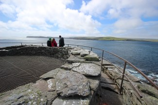 At the top of Mousa broch