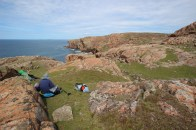 Lunch stop on the western side of Muckle Roe