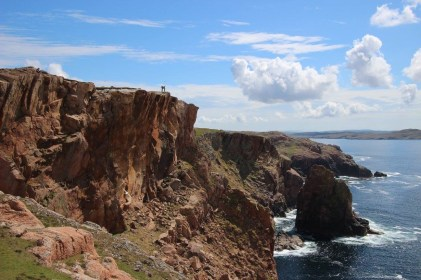 Spectacular cliffs on the northwestern coast of Muckle Roe
