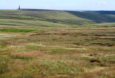 Stoodley Pike from the path towards Withens Clough reservoir