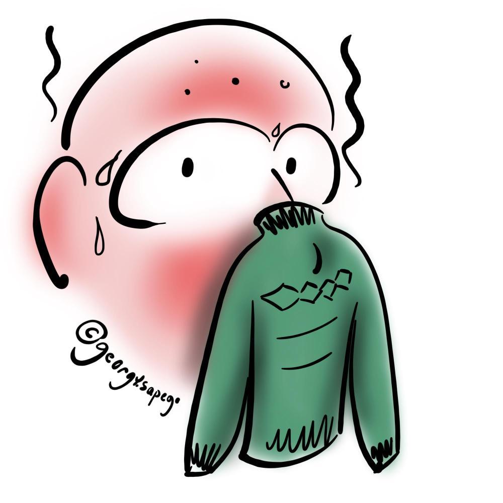 Маска, похожая на свитер
