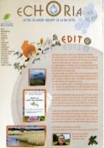 Echoria, Lettre du bassin versant de la Ria d'Etel, Syndicat Mixte de la Ria d'Etel, Décembre 2008 (couverture et pages intérieures)