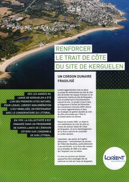 Renforcer le trait de côte du site de Kerguelen, Lorient Agglomération, 2014 (couverture et pages intérieures)