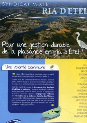 Pour une gestion durable de la plaisance en ria d'Etel, Syndicat Mixte de la Ria d'Etel, 2015 (couverture et pages intérieures)