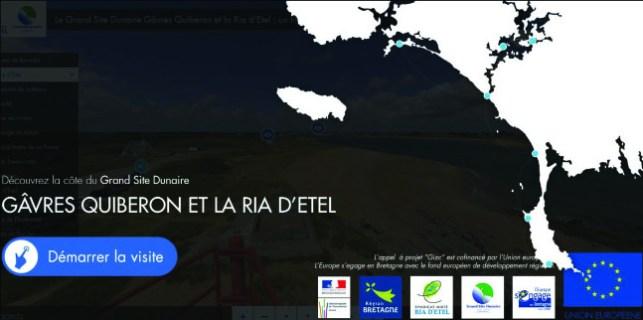 """""""Le grand site dunaire Gâvres Quiberon et la Ria d'Etel : un littoral rare et unique"""" Visite virtuelle / Exposition itinérante 2014-2015-2016, Syndicat Mixte Gâvres Quiberon et Syndicat Mixte de la Ria d'Etel"""