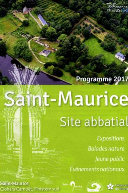 Site abbatial de Saint-Maurice (Clohars-Carnoët) - Programme 2017 (couverture et pages intérieure)