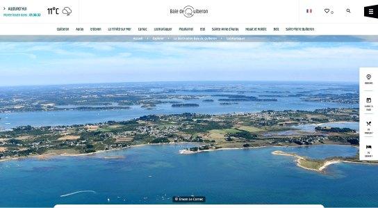 Site Web de l'Office de Tourisme Baie de Quiberon La Sublime