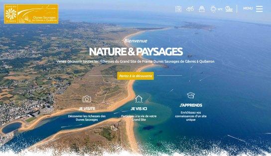 Site Web du Syndicat Mixte du Grand Site Gâvres Quiberon