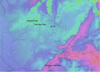 Zambia's Gravity Disturbance Map