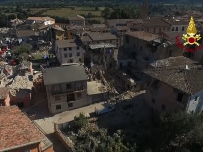 Drones Capture Italy's Earthquake Scene