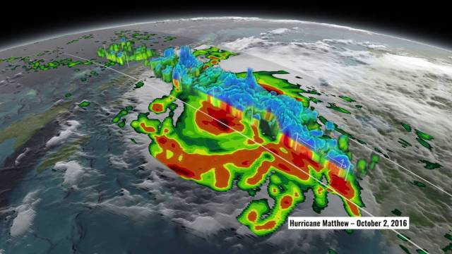 NASA's 3D View Shows Hurricane Matthew's Intensity