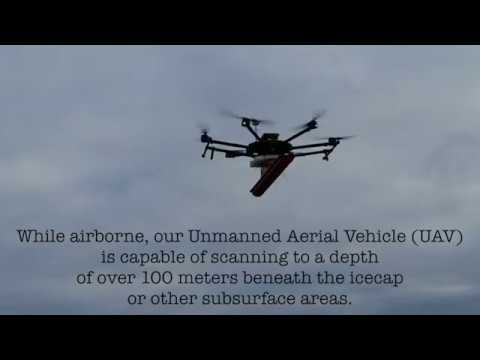 Drone with Ground Penetrating Radar (GPR)