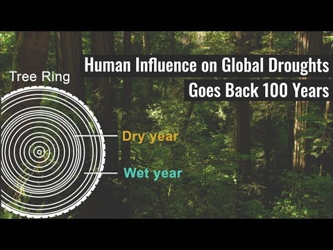 Human Influence on Global Droughts Goes Back 100 Years
