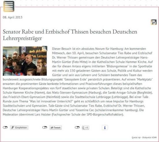 Erzbistum Hamburg 08.04.2013