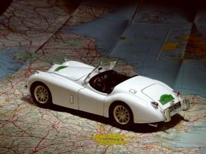 Model Sports Car on Map