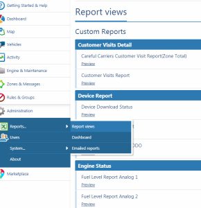 MyGeotab Report Views