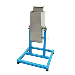 The U shape Box is used to determine the confined (flow ability) and the capacity of SCC concrete to flow within confined spaces.