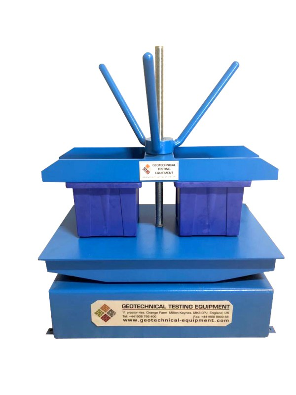 The Vibrating table is used to compact concrete materials inside cubes, cylinders and beam molds.