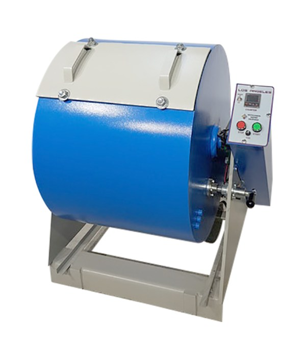 Los Angeles Abrasion Machine is used for determination of aggregates resistance to fragmentation.