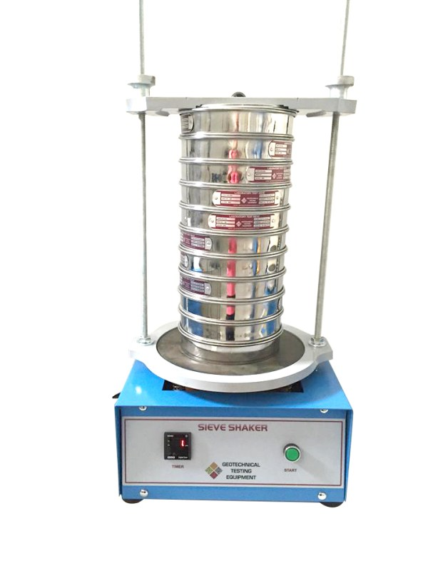 The Sieve Shaker imparts a circular motion to the material being sieved so that it makes a slow progression over the surface of the sieve.