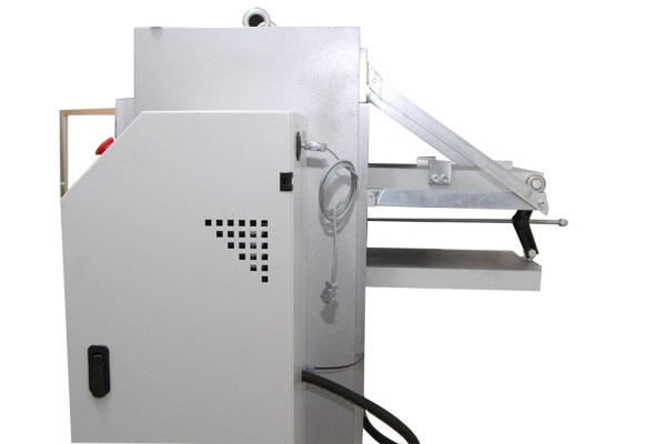 The Block Platens with Sliding Rail Assembly are installed on the compression testing machines for testing concrete blocks and other structural materials.