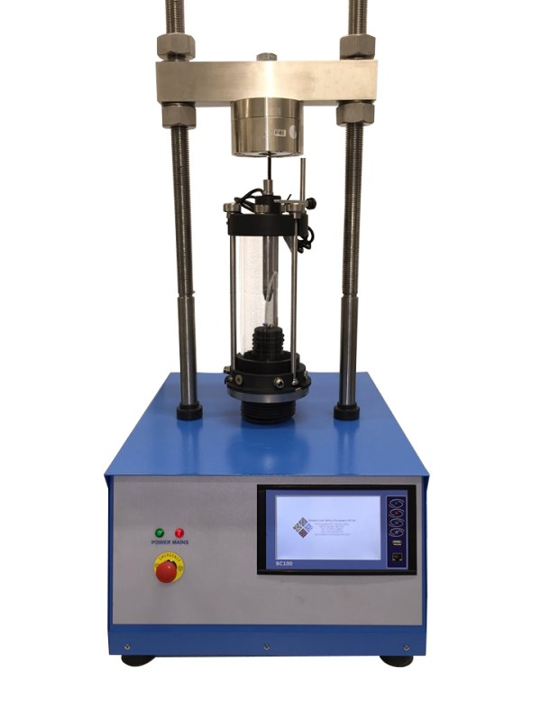 In a Triaxial shear test, stress is applied to a sample of the material being tested in a way, which results in stresses along one axis being different from the stresses in perpendicular directions.