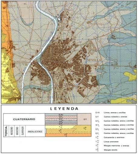 Mapa geología Sevilla