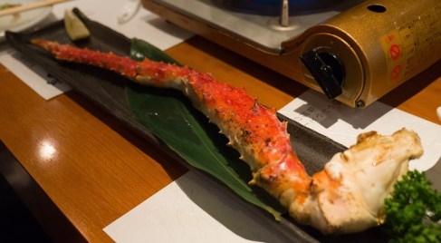 Grilled King crab
