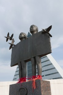 Aomori statue near tourist information centre