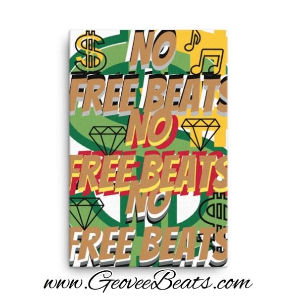 Geoveebeats no free beats gold canvas mockup