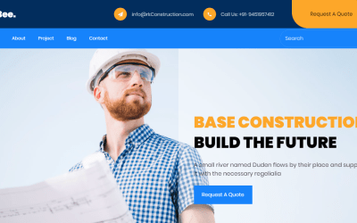 Construction Website Portfolio