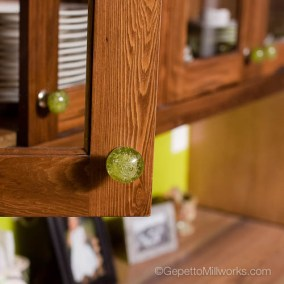 Hidden Spice rack in pull out kitchen cabinet