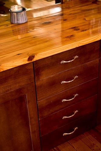 Custom Hardwood kitchen countertop