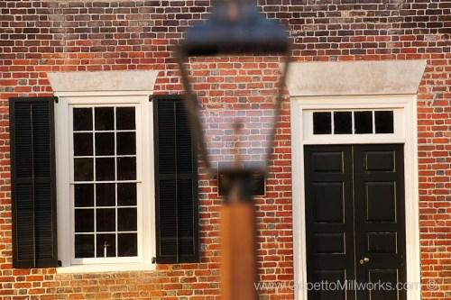 Antique glass historic wooden window handmade renovation