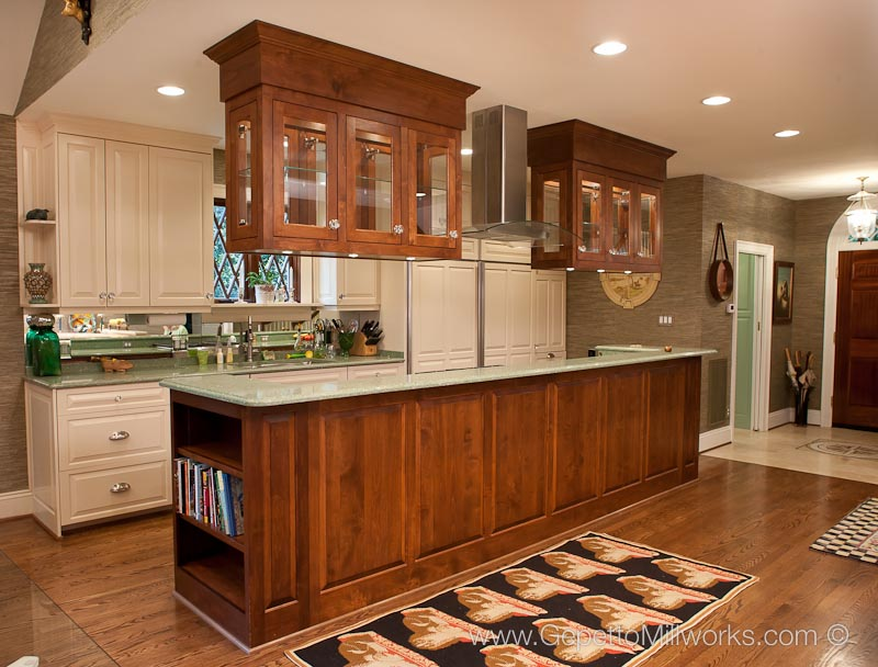 Incredible Hanging Cabinets In Island Based Kitchen Gepetto Millworks Download Free Architecture Designs Grimeyleaguecom