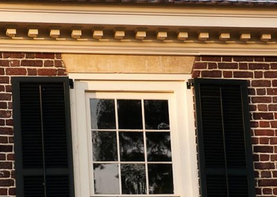 Historic Restoration wooden window shutter fabrication by local Virginia craftsmen