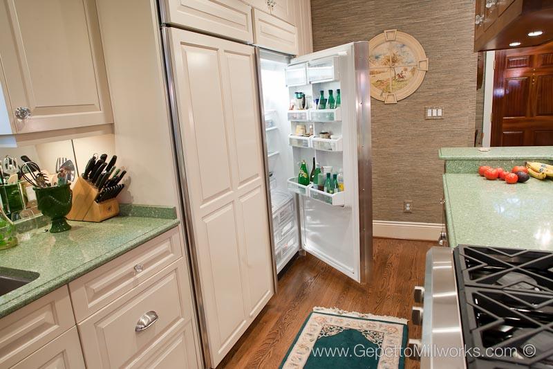 Refrigerator detail custom kitchen design placement Richmond VA ...