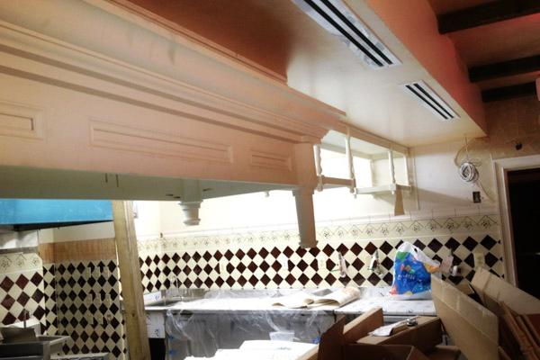 Restaurant Interior 19th Century Replica Wooden Mouldings
