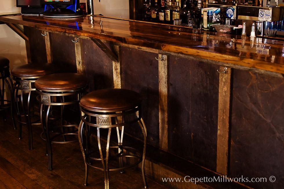 Solid wood bar   Custom Restaurant Fittings   Virginia Craftsmen