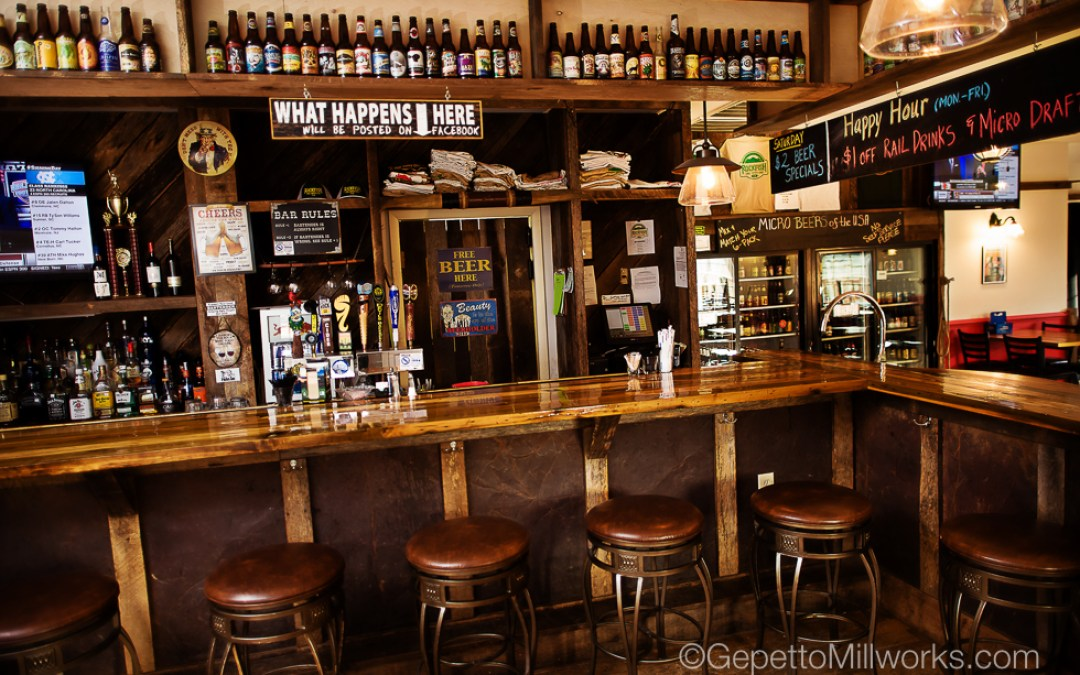 Solid Wood Bar Construction Virginia
