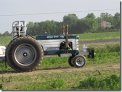 Silver Fox Pulling Tractor