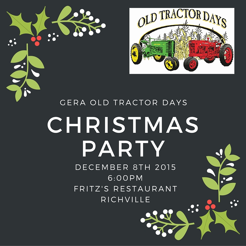 Christmas Party – December 8th @ Fritz's