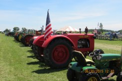 Antique tractors of all colors