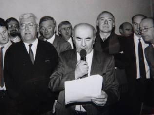 passation de pouvoir en 1989 avec Pierre Cuny
