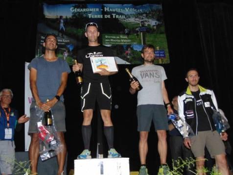 Le 56 km homme avec dans l'ordre d'arrivée Adrien Dos Santos, Antoine Dhaynaut, Stéphane Knittel et Vincent Leuenberger