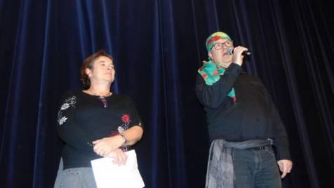 L'adjointe à la culture Anne Chwaliszewski et le directeur de l'école de musique Ludovic Bérard.