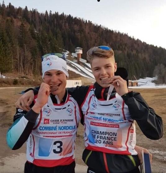 Les 2 médaillées Antoine Gérard et Tom Rochat